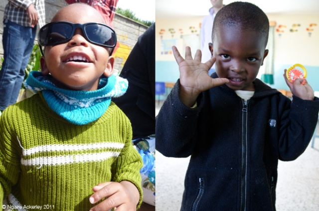 Two very happy boys at Saidia Orphange, Kenya.