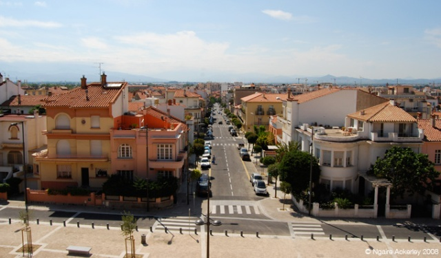 View over the colourful Perpignan