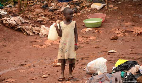 Child on Roadside, Kampala, Uganda