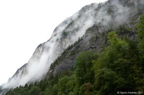 Mountain side in Lauterbrunnen, Switzerland