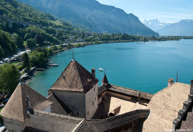 View from Chateau de Chillon, Montreux. Switzerland