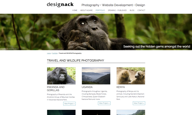 Travel and Wildlife Photography on designack.com