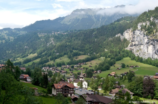 View over the valley of Lauterbrunnen, Switzerland