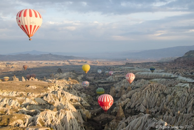 Cappadocia, Turkey Hot Air Balloons (view from inside one)