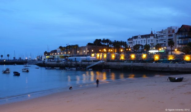 Night on the beach, Cascais, Portugal