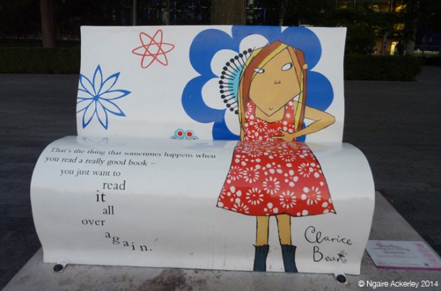 Clarice Bean Bookbench. Lauren Child (original illustrations) Created by Jane Headford