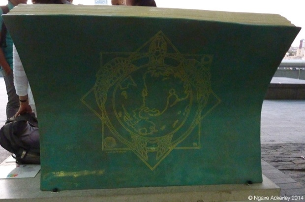 Discworld Bookbench. Created by Paul Kidby