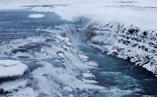Gullfoss waterfall, just out of Reykjavik, Iceland