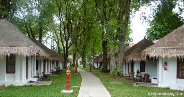 Path of huts in Koh Samui, Thailand