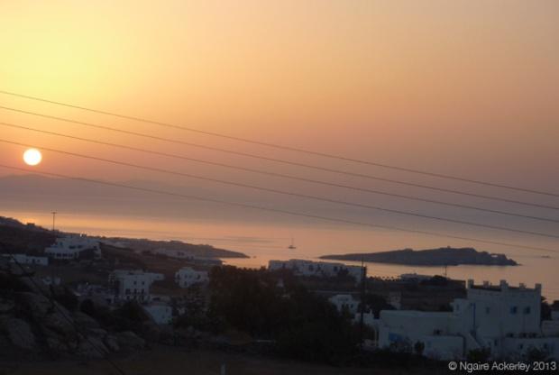 View over Mykonos, Greece