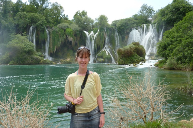 Ngaire at Kravica Waterfalls, Bosnia and Herzegovina