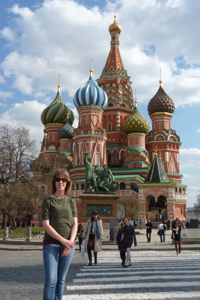 Outside Saint Basil's Cathedral, Moscow, 2014