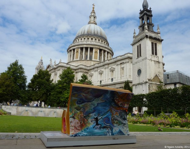Peter Pan outside St Paul's Cathedral. Created by Laura Elizabeth Bolton.