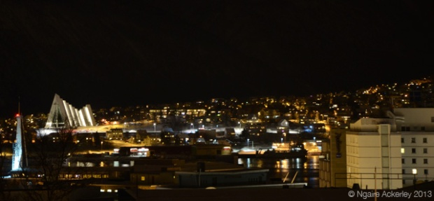 Night view of Tromso, Norway