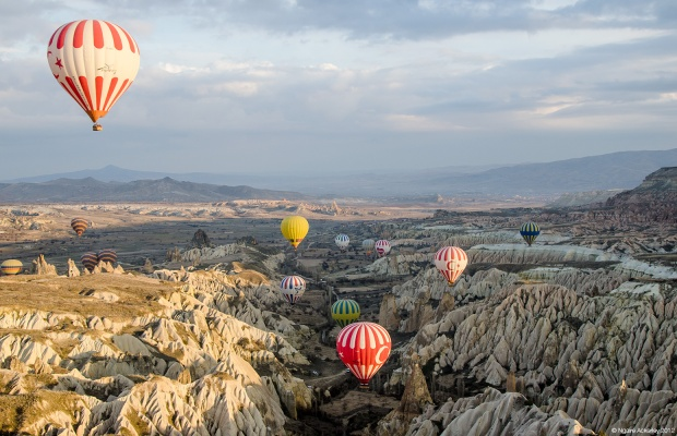 Cappadocia from above, Turkey