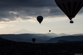 Cappadocia and its hot air balloons, Turkey
