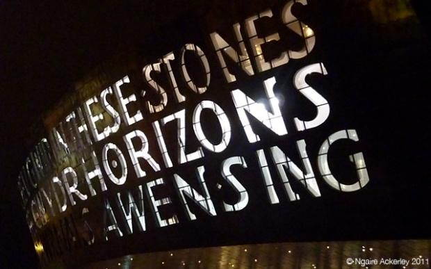Millenium Centre (night), Cardiff, Wales