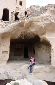 Chilling in a cave in Cappdocia