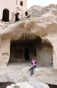 Chilling in a cave in Cappdocia