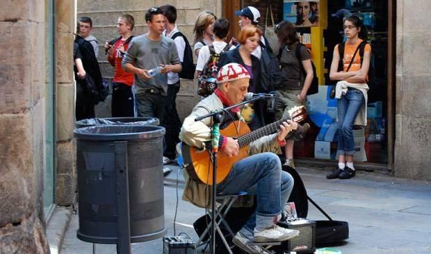 Musician, Barcelona, Spain