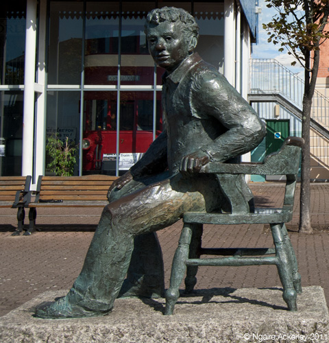 Statue of Dylan Thomas, Swansea, Wales