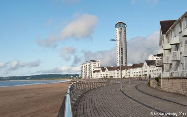 Waterfront in Swansea, Wales