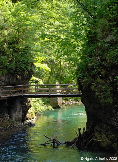 Vintgar bridges, Slovenia
