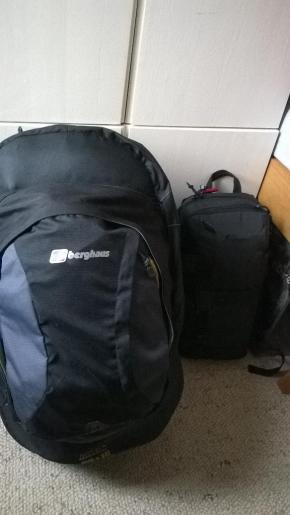 So turns out the big backpack is 20kg... I sense dumping items along the way will be a good choice
