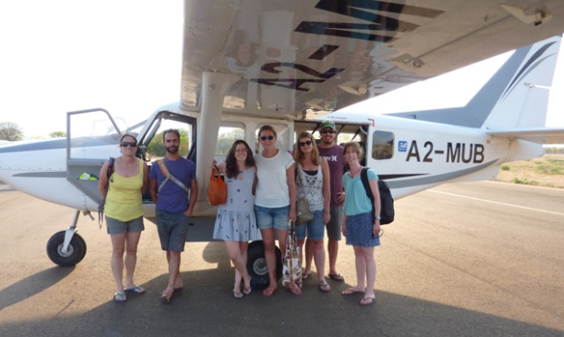 The group in the plane I flew in