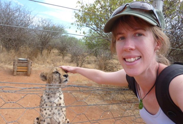 Samira the cheetah and I
