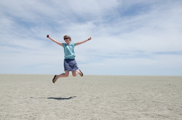 Jumping as you do in Etosha National Park