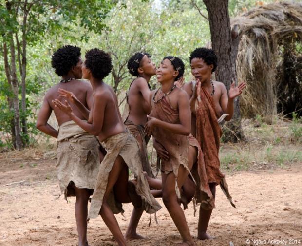 San Bushman dance, Nambia
