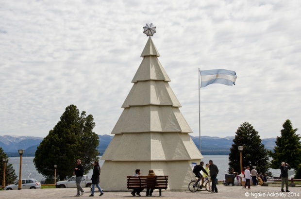 Christmas tree in Bariloche