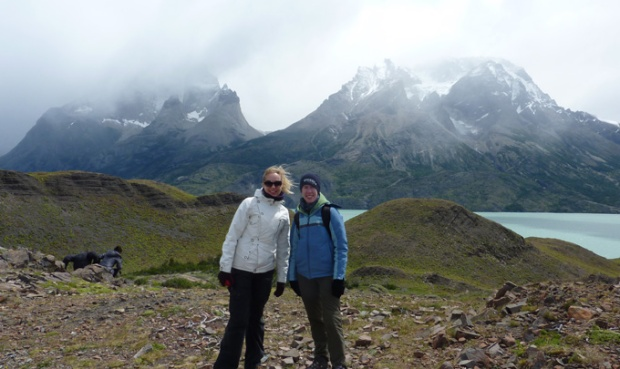 My new friend Eveline and I at Torres del Paine