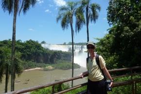 Ngaire at Iguazu Falls, Argentina