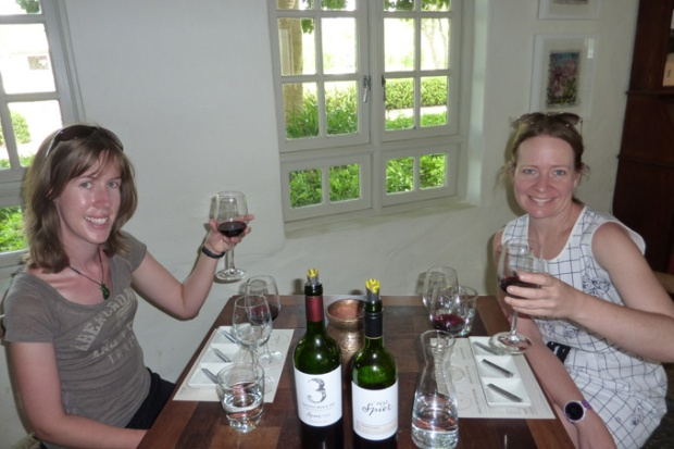 Kirsten and I doing a chocolate and wine tasting at Spiers