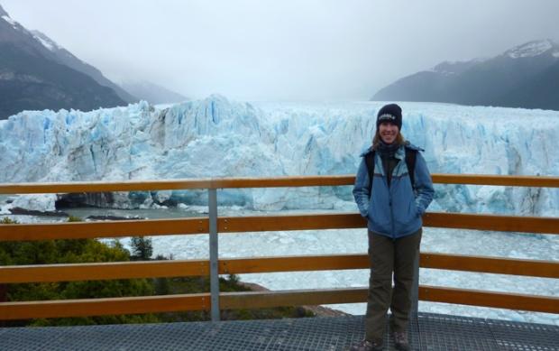 Me standing in front of Perito Moreno Glacier