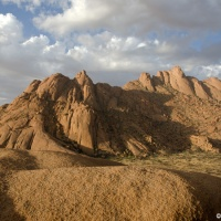 In Namibia, but somewhat transported out of this world in Spitzkoppe