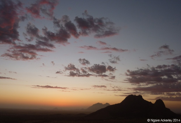 Sunset over Spitzkoppe