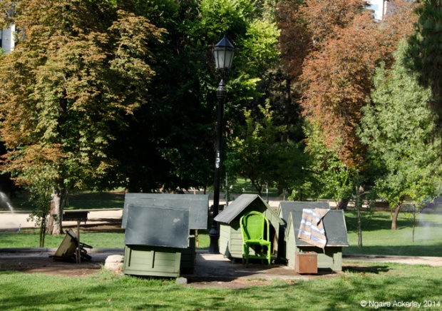Dog Houses in a park in Santiago