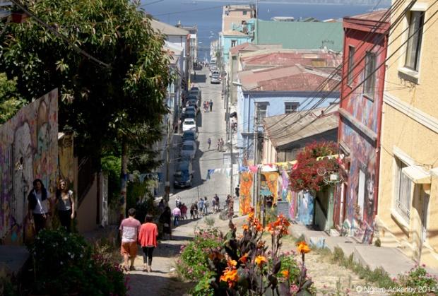 A street in Valparaiso