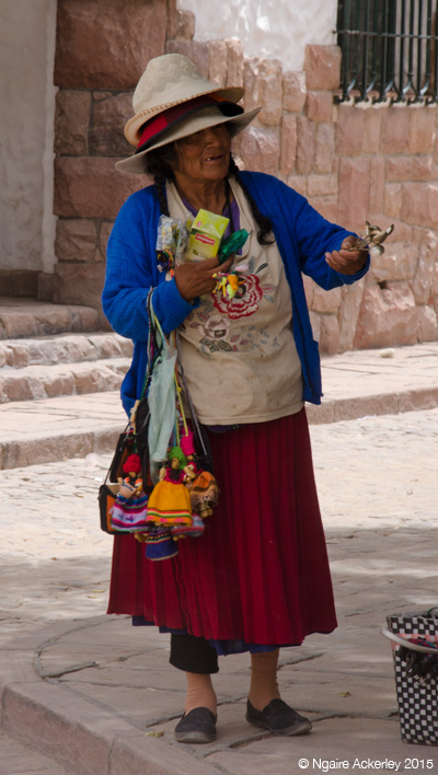 Lady selling bits and pieces