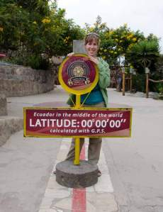 At the Equator stop, just out of Quito