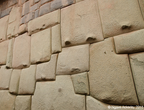 Inca rock walls in Cusco