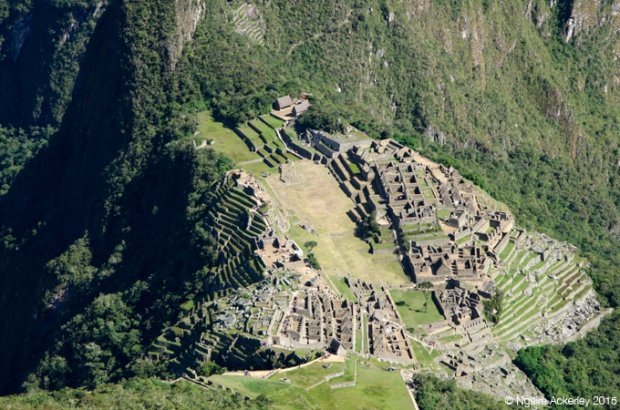 The city of Machu Picchu from above