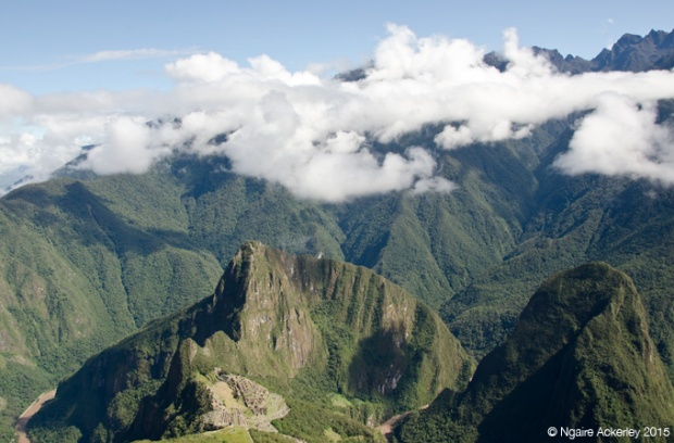 The view over Machu PIcchu