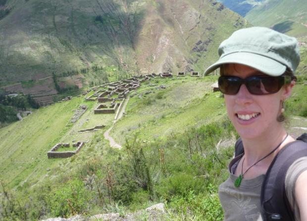 Me at the ruins