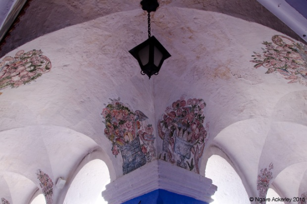 Archway paintings at Monasterio Santa Catalina