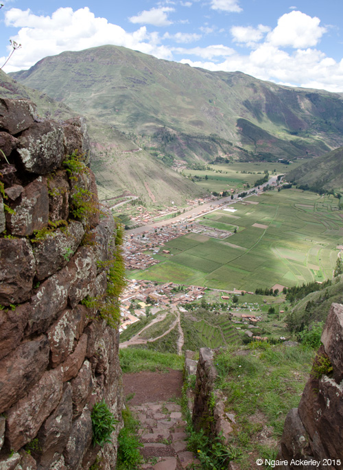 View through the Pisac ruins