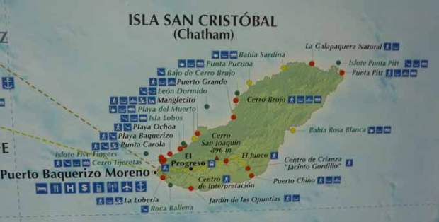 Map of San Cristobal